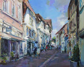 old town landscape painting