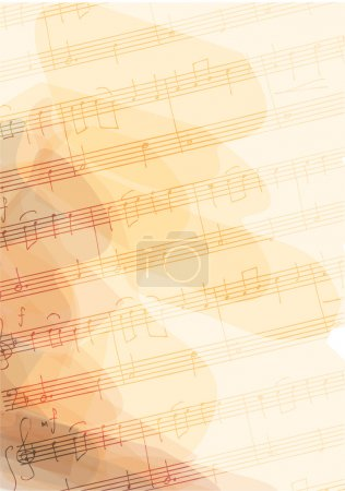 Illustration for Bsckground with handmade musical notes. Vector illustration. - Royalty Free Image