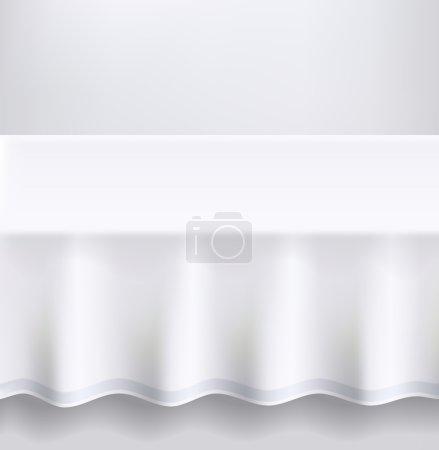 Photo pour Table avec un chiffon blanc. Illustration vectorielle . - image libre de droit