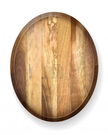 Realistic wooden board.