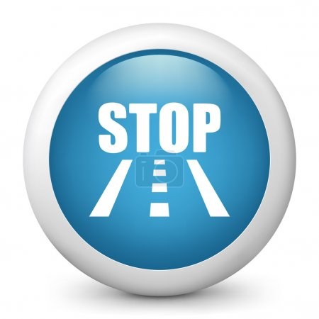 icon depicting a stop sign on the road