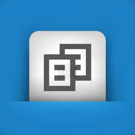blue and gray icon depicting text files