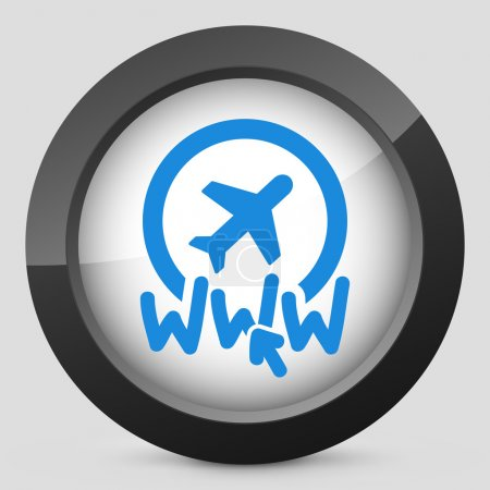 Illustration for Website travel agency icon - Royalty Free Image