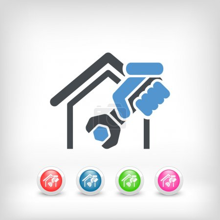 Illustration pour Icône de services professionnels à domicile - image libre de droit