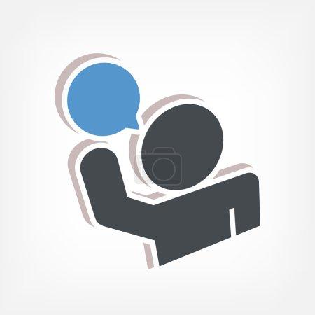 Illustration pour Parlez icône 3d - image libre de droit