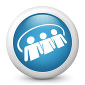 Social network icon 3d
