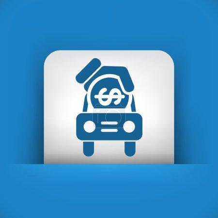 Car money icon