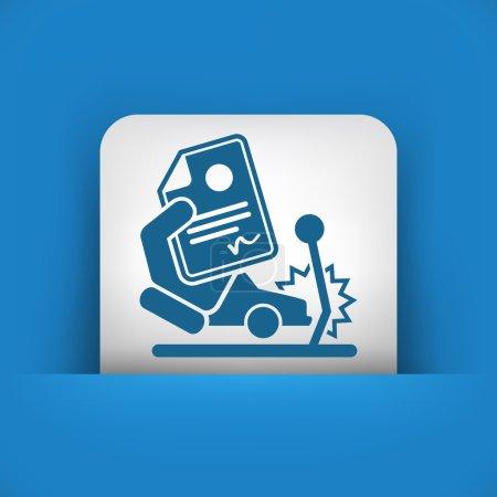 Illustration pour Assurance accident de voiture - image libre de droit