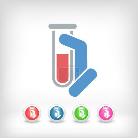 Illustration for Test tube icon - Royalty Free Image