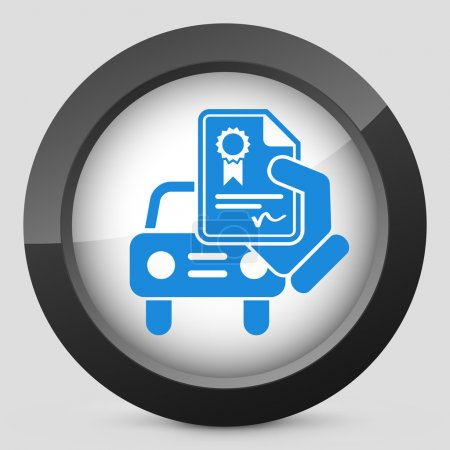 Illustration for Car certificate icon - Royalty Free Image