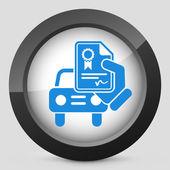 Car certificate icon