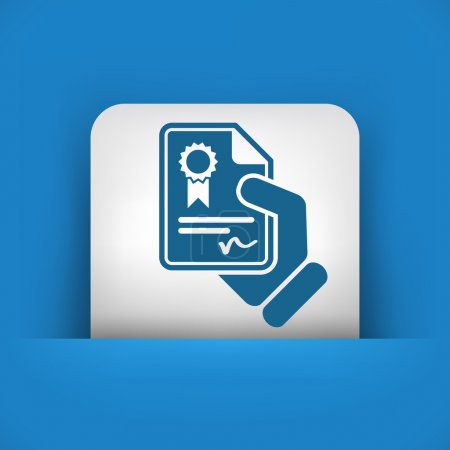 icono de documento certificado