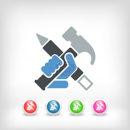 Illustration for Work tools icon - Royalty Free Image