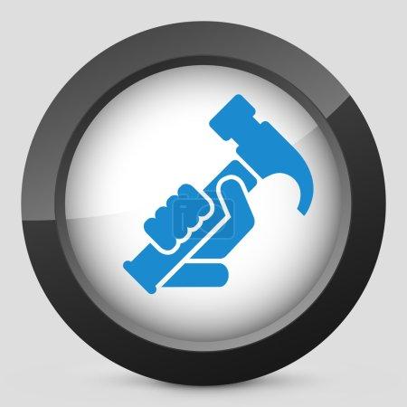 Illustration pour Icône de marteau - image libre de droit