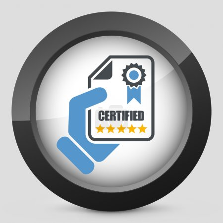 Illustration for Certified document icon - Royalty Free Image
