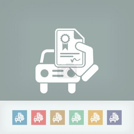 Car certificate icon