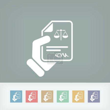 Illustration pour Icône du document juridique - image libre de droit