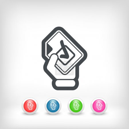 Illustration for Mark choice icon - Royalty Free Image