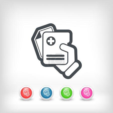 Illustration pour Icône dossiers médicaux - image libre de droit