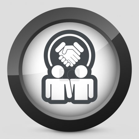Partnership agreement icon
