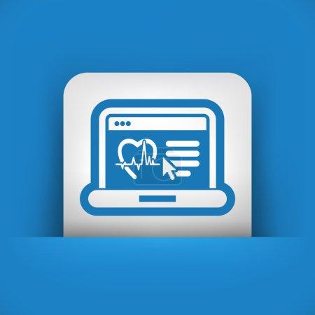 Illustration for Medical website page - Royalty Free Image