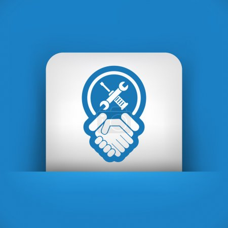Worker handshake icon