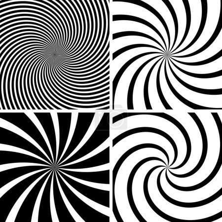 Illustration for Swirl Background - Black Illustration, Vector - Royalty Free Image
