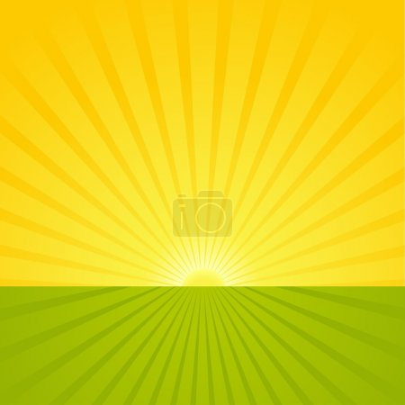 Illustration for Sunrise Scene - Abstract Background Illustration, Vector - Royalty Free Image