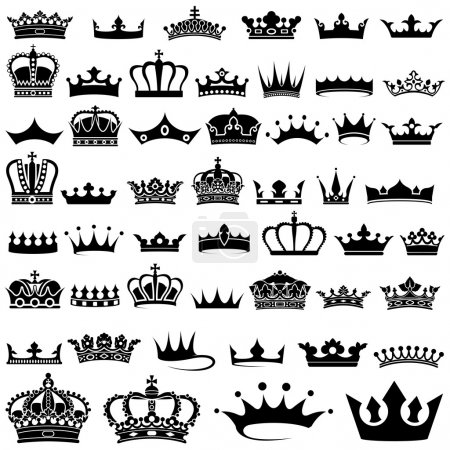 Illustration for Crown design Set - 50 illustrations, Vector - Royalty Free Image
