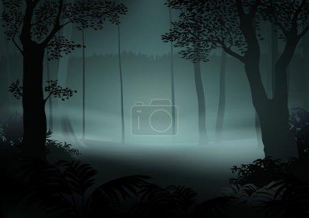 Illustration pour Dark Forest - Illustration de bande dessinée, vecteur - image libre de droit