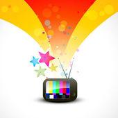 Colorful vector tv illustration design