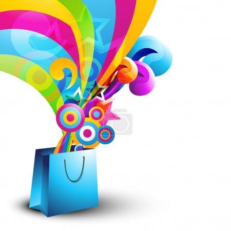 Illustration for Stylish vector shopping bag design - Royalty Free Image
