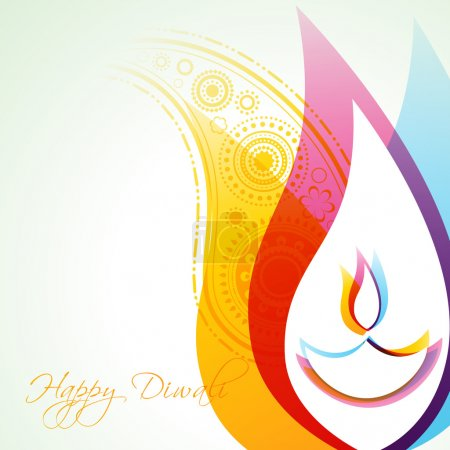 Illustration for Beautiful creative vector colorful happy diwali background - Royalty Free Image