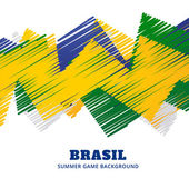 Brazil soccer game vector design
