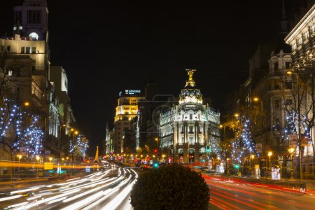 Night view of Madrid in