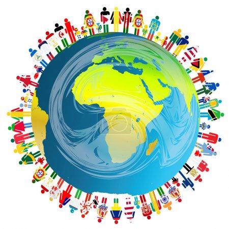 Photo pour Concept de paix avec la planète Terre et - image libre de droit