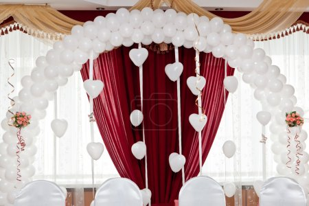 Wedding ornament from balloons