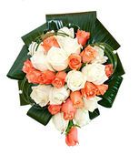 Beautiful bridal bouquet at a wedding party,bunch of flowers. is