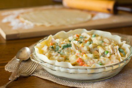 Photo for Preparing homemade chicken pot pie - Royalty Free Image