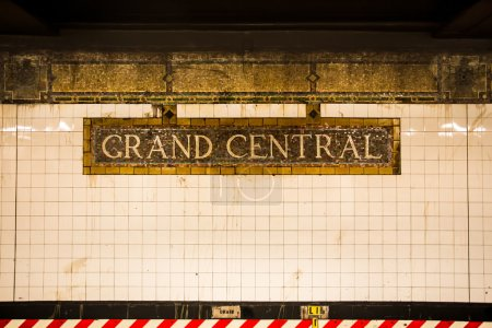 Vintage tile subway wall, Grand Central Terminal, ...