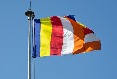 symbolique drapeau bouddhiste