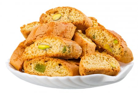 hard, dry biscuit with pistachios