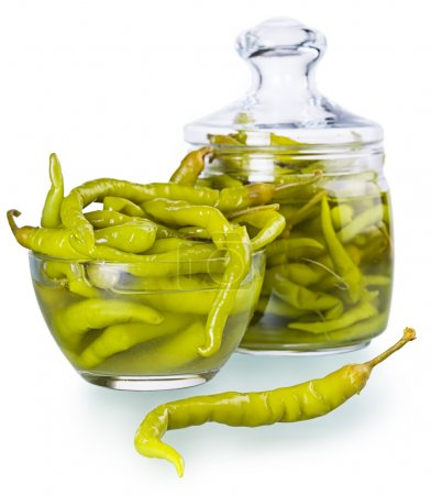 pickled spicy green pepper
