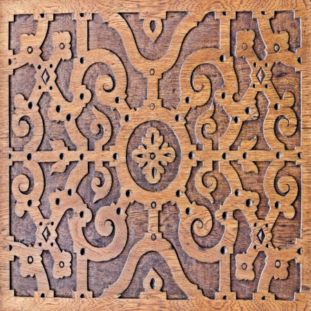 wood carving, antique skillful pattern