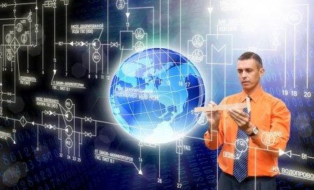 Photo pour Technologie innovante ordinateurs création - image libre de droit