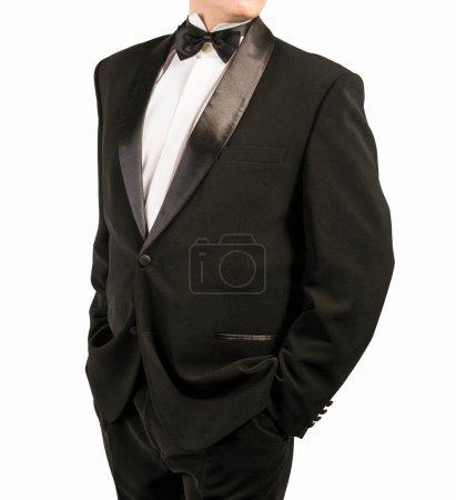 Photo pour Tuxedo classique sur fond blanc - image libre de droit
