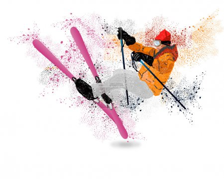 Freestyle Skiing.Mountain skiing.Extreme Skiing.Winter Sport