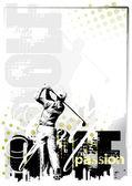 Golf ilustrace