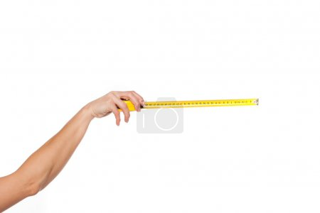 Orm of a woman measuring