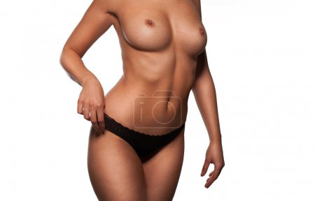 Torso of a beautiful topless woman